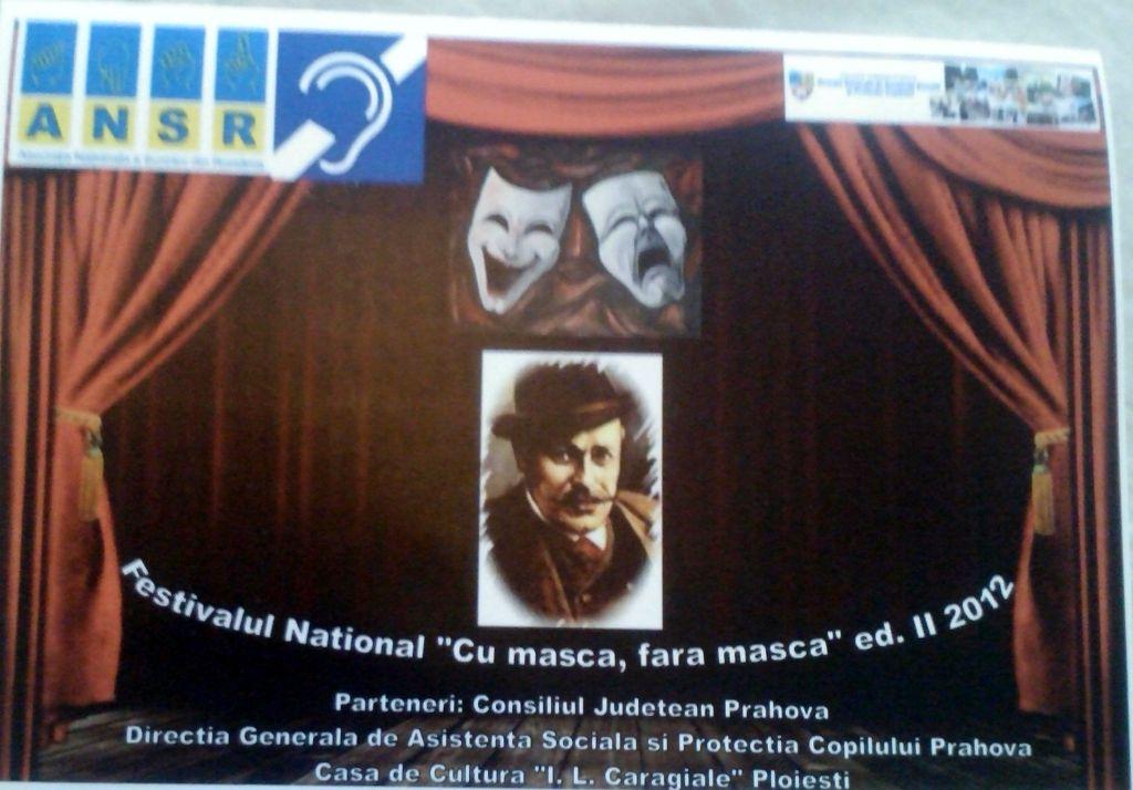 """Claudia Iordache vorbeşte despre Festivalul Naţional """"Cu mască, fără mască"""" ediţia a II-a 2012"""