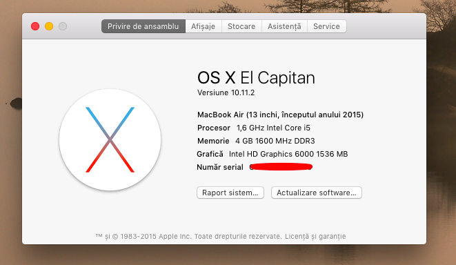 Macbook Air sistem de operare