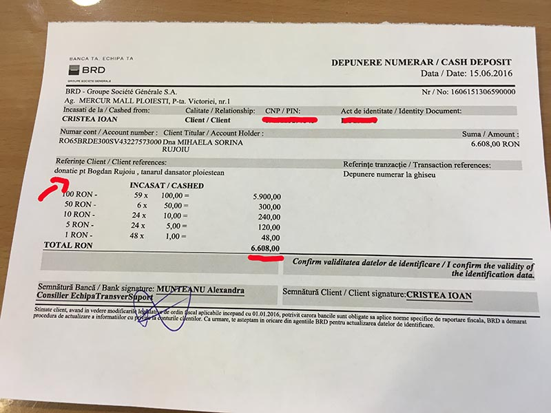 6608 lei donatie pentru Bogdan
