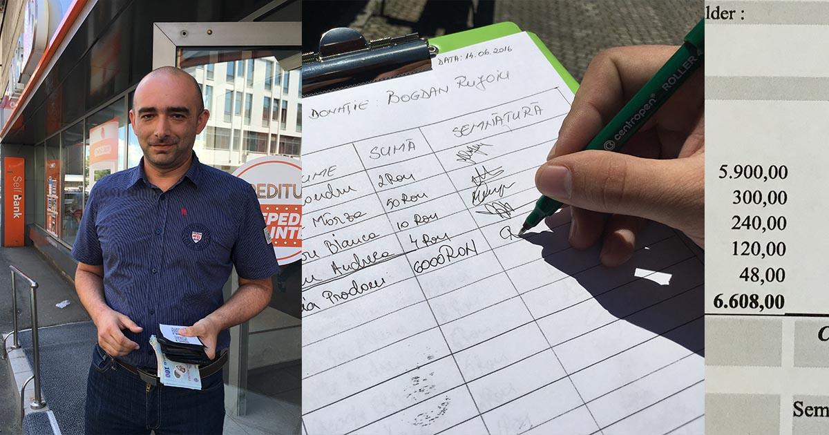 Horia Prodan, fondatorul Gândeşti?, donaţie de 6000 lei pentru Bogdan Rujoiu