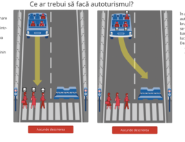 Moral, pe cine ar trebui să omoare mașina inteligentă în cazul de față?