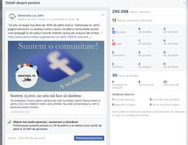 Un sfert de milion de utilizatori au văzut postarea sau a luat-o Facebook razna?